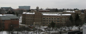 A view of MSU's north side of campus.